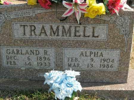 SMITH TRAMMELL, ALPHA - Boone County, Arkansas | ALPHA SMITH TRAMMELL - Arkansas Gravestone Photos