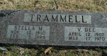 TRAMMELL, VINDEL DEE - Boone County, Arkansas | VINDEL DEE TRAMMELL - Arkansas Gravestone Photos