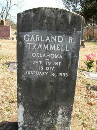 TRAMMELL (VETERAN), GARLAND R - Boone County, Arkansas | GARLAND R TRAMMELL (VETERAN) - Arkansas Gravestone Photos