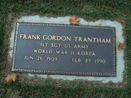 TRANTHAM  (VETERAN 2 WARS), FRANK GORDON - Boone County, Arkansas   FRANK GORDON TRANTHAM  (VETERAN 2 WARS) - Arkansas Gravestone Photos
