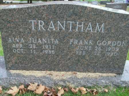 TRANTHAM, ALVA JUANITA - Boone County, Arkansas | ALVA JUANITA TRANTHAM - Arkansas Gravestone Photos