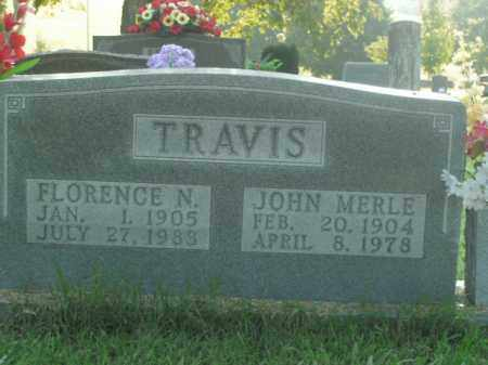 TRAVIS, FLORENCE N. - Boone County, Arkansas | FLORENCE N. TRAVIS - Arkansas Gravestone Photos