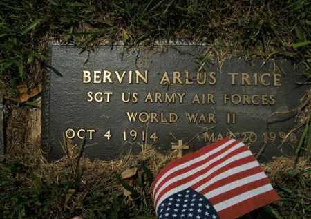 TRICE  (VETERAN WWII), BERVIN ARLUS - Boone County, Arkansas | BERVIN ARLUS TRICE  (VETERAN WWII) - Arkansas Gravestone Photos