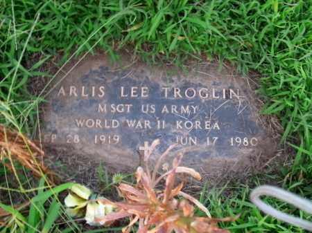TROGLIN  (VETERAN 2 WARS), ARLIS LEE - Boone County, Arkansas   ARLIS LEE TROGLIN  (VETERAN 2 WARS) - Arkansas Gravestone Photos