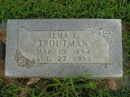 TROUTMAN, ALMA E. - Boone County, Arkansas   ALMA E. TROUTMAN - Arkansas Gravestone Photos