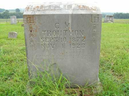 TROUTMAN, CHARLES MAXWELL - Boone County, Arkansas | CHARLES MAXWELL TROUTMAN - Arkansas Gravestone Photos