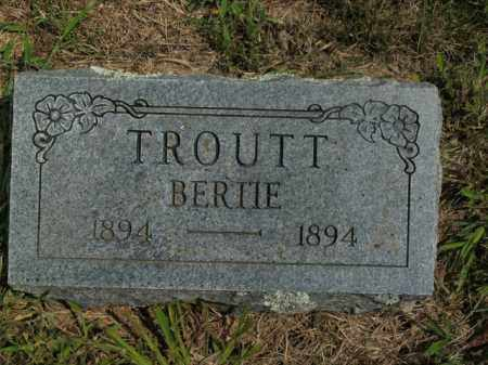 TROUTT, BERTIE - Boone County, Arkansas | BERTIE TROUTT - Arkansas Gravestone Photos