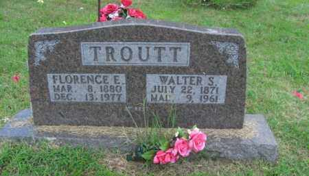 TROUTT, WALTER SAMUEL - Boone County, Arkansas | WALTER SAMUEL TROUTT - Arkansas Gravestone Photos