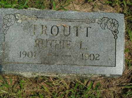 TROUTT, RUTHIE L. - Boone County, Arkansas | RUTHIE L. TROUTT - Arkansas Gravestone Photos