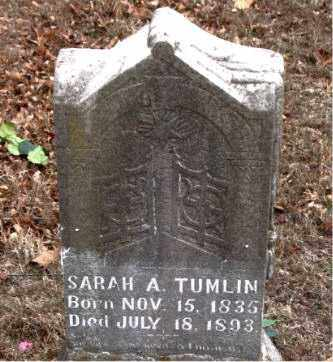 TUMLIN, SARAH  A. - Boone County, Arkansas | SARAH  A. TUMLIN - Arkansas Gravestone Photos
