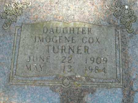 COX TURNER, IMOGENE - Boone County, Arkansas | IMOGENE COX TURNER - Arkansas Gravestone Photos