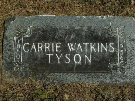 WATKINS TYSON, CARRIE - Boone County, Arkansas | CARRIE WATKINS TYSON - Arkansas Gravestone Photos