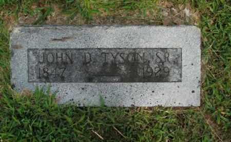 TYSON, JOHN D., SR - Boone County, Arkansas | JOHN D., SR TYSON - Arkansas Gravestone Photos