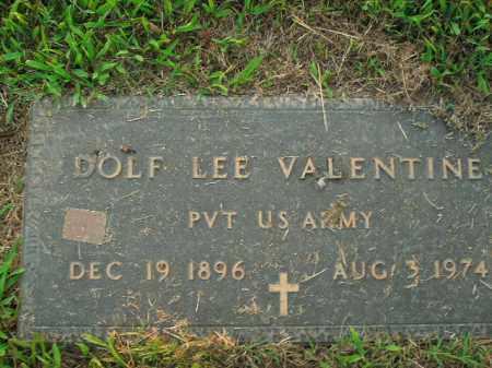 VALENTINE  (VETERAN), DOLF LEE - Boone County, Arkansas | DOLF LEE VALENTINE  (VETERAN) - Arkansas Gravestone Photos