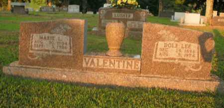 VALENTINE, DOLF LEE - Boone County, Arkansas   DOLF LEE VALENTINE - Arkansas Gravestone Photos