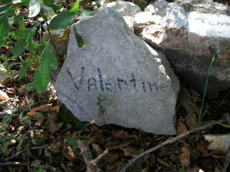 VALENTINE, UNKNOWN - Boone County, Arkansas | UNKNOWN VALENTINE - Arkansas Gravestone Photos