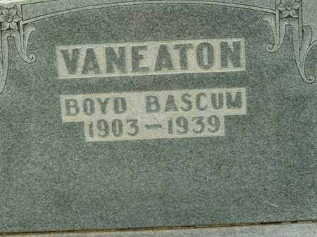 VANEATON, BOYD BASCUM - Boone County, Arkansas | BOYD BASCUM VANEATON - Arkansas Gravestone Photos
