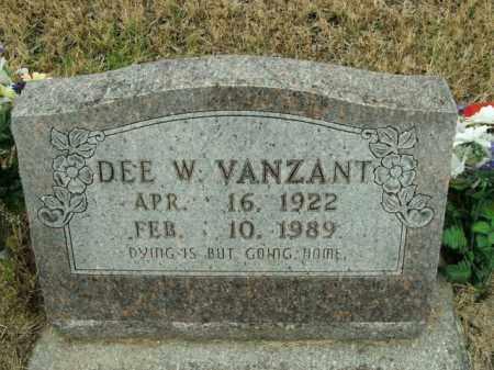 VANZANT, DEE W. - Boone County, Arkansas | DEE W. VANZANT - Arkansas Gravestone Photos