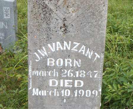 VANZANT, J. W. - Boone County, Arkansas   J. W. VANZANT - Arkansas Gravestone Photos