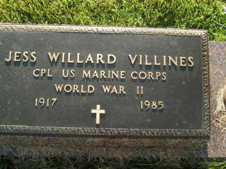 VILLINES  (VETERAN WWII), JESS WILLARD - Boone County, Arkansas | JESS WILLARD VILLINES  (VETERAN WWII) - Arkansas Gravestone Photos