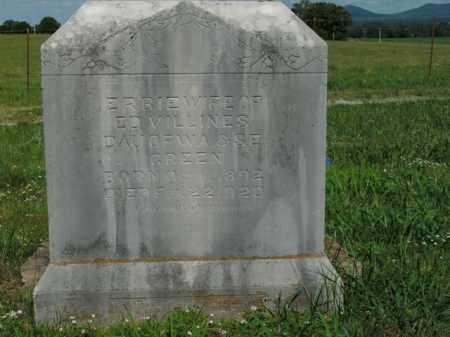 GREEN VILLINES, ERBIE - Boone County, Arkansas | ERBIE GREEN VILLINES - Arkansas Gravestone Photos