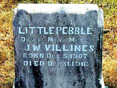 VILLINES, PEBBLE - Boone County, Arkansas   PEBBLE VILLINES - Arkansas Gravestone Photos