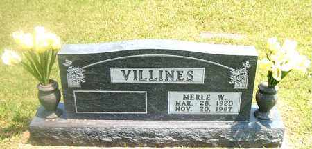 VILLINES, MERLE  W. - Boone County, Arkansas   MERLE  W. VILLINES - Arkansas Gravestone Photos