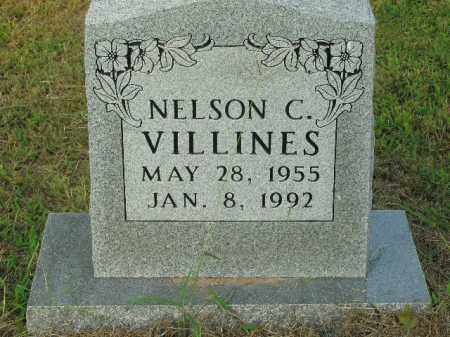 VILLINES  (VETERAN), NELSON CURTIS - Boone County, Arkansas   NELSON CURTIS VILLINES  (VETERAN) - Arkansas Gravestone Photos