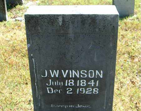 VINSON, J.  W. - Boone County, Arkansas   J.  W. VINSON - Arkansas Gravestone Photos