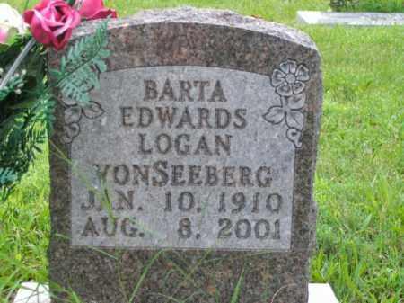 VONSEEBERG, BARTA EDWARDS - Boone County, Arkansas | BARTA EDWARDS VONSEEBERG - Arkansas Gravestone Photos
