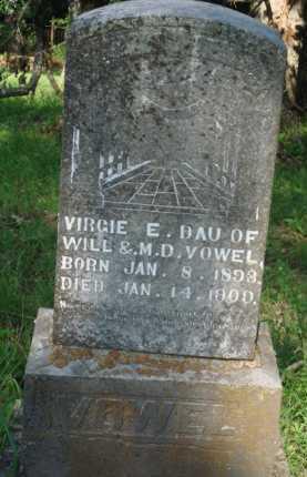 VOWEL, VIRGIE E. - Boone County, Arkansas   VIRGIE E. VOWEL - Arkansas Gravestone Photos