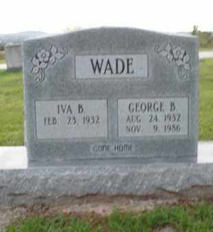 WADE, GEORGE B. - Boone County, Arkansas | GEORGE B. WADE - Arkansas Gravestone Photos