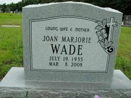 WADE, JOAN MARJORIE - Boone County, Arkansas   JOAN MARJORIE WADE - Arkansas Gravestone Photos