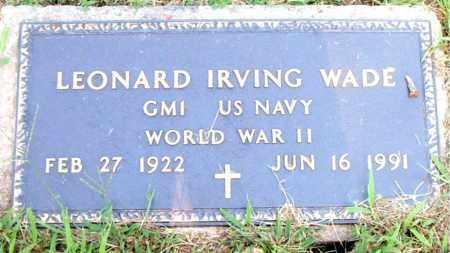 WADE  (VETERAN WWII), LEONARD IRVING - Boone County, Arkansas | LEONARD IRVING WADE  (VETERAN WWII) - Arkansas Gravestone Photos