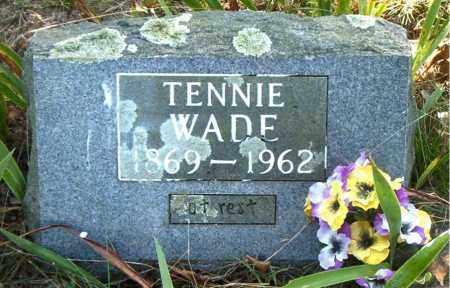 WADE, HANNAH TENNESSEE (TENNIE) - Boone County, Arkansas | HANNAH TENNESSEE (TENNIE) WADE - Arkansas Gravestone Photos