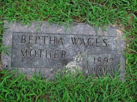 WAGES, BERTHA - Boone County, Arkansas | BERTHA WAGES - Arkansas Gravestone Photos