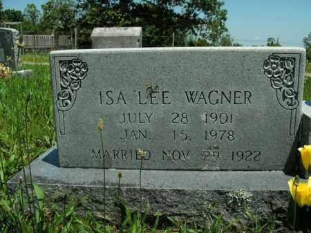 WAGNER, ISA LEE - Boone County, Arkansas   ISA LEE WAGNER - Arkansas Gravestone Photos