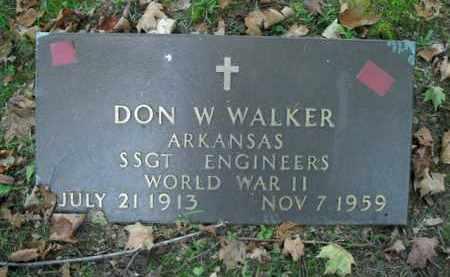 WALKER  (VETERAN WWII), DON W - Boone County, Arkansas | DON W WALKER  (VETERAN WWII) - Arkansas Gravestone Photos