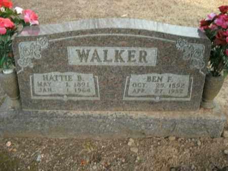 WALKER, BEN F. - Boone County, Arkansas | BEN F. WALKER - Arkansas Gravestone Photos