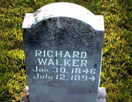 WALKER, RICHARD - Boone County, Arkansas   RICHARD WALKER - Arkansas Gravestone Photos