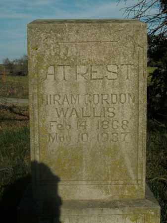 WALLIS, HIRAM GORDON - Boone County, Arkansas   HIRAM GORDON WALLIS - Arkansas Gravestone Photos