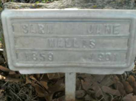 WALLIS, SARA JANE - Boone County, Arkansas | SARA JANE WALLIS - Arkansas Gravestone Photos
