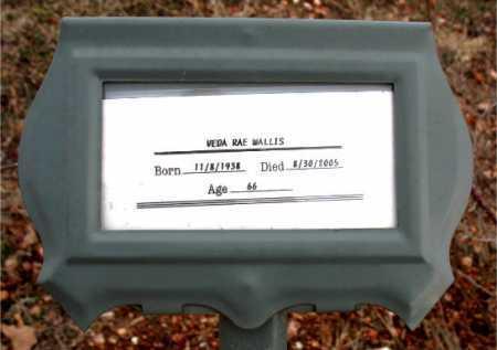 WALLIS, VEDA RAE - Boone County, Arkansas | VEDA RAE WALLIS - Arkansas Gravestone Photos