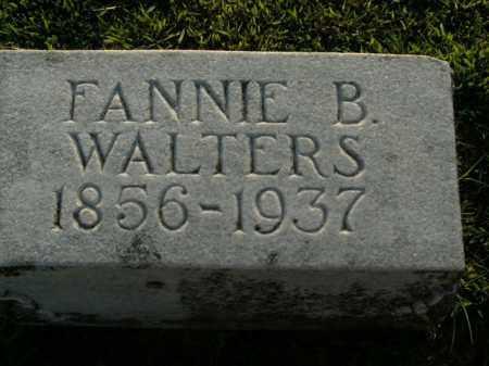 WALTERS, FANNIE B. - Boone County, Arkansas | FANNIE B. WALTERS - Arkansas Gravestone Photos