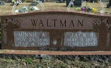 WALTMAN, MINNIE A. - Boone County, Arkansas   MINNIE A. WALTMAN - Arkansas Gravestone Photos