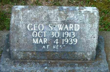 WARD, GEORGE  S. - Boone County, Arkansas   GEORGE  S. WARD - Arkansas Gravestone Photos
