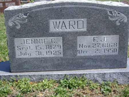 WARD, JENNIE C - Boone County, Arkansas | JENNIE C WARD - Arkansas Gravestone Photos