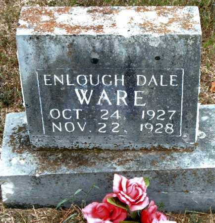 WARE, ENLOUGH DALE - Boone County, Arkansas | ENLOUGH DALE WARE - Arkansas Gravestone Photos