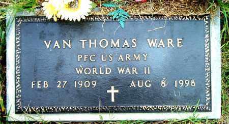 WARE  (VETERAN WWII), VAN THOMAS - Boone County, Arkansas | VAN THOMAS WARE  (VETERAN WWII) - Arkansas Gravestone Photos