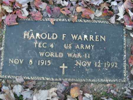 WARREN  (VETERAN WWII), HAROLD F - Boone County, Arkansas | HAROLD F WARREN  (VETERAN WWII) - Arkansas Gravestone Photos